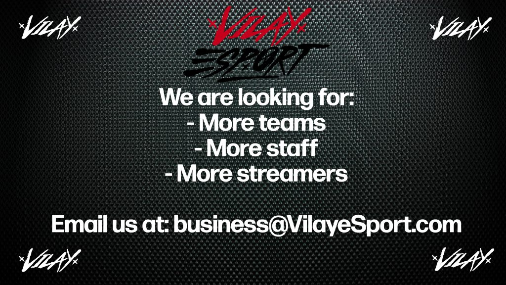 Looking for more teams, staff & streamers!